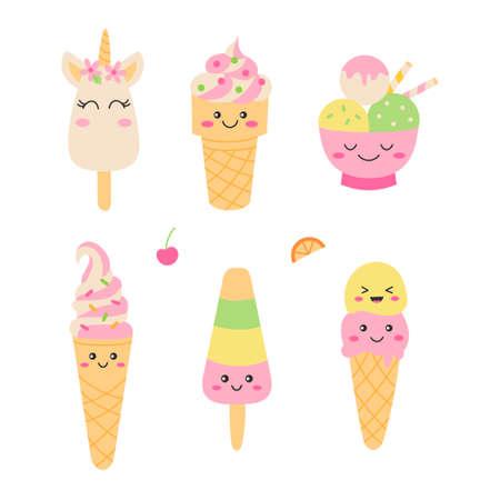 Cute ice cream set