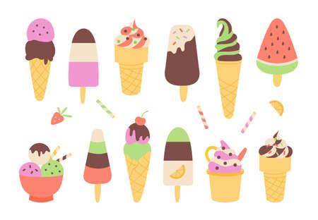 Chocolate ice cream set