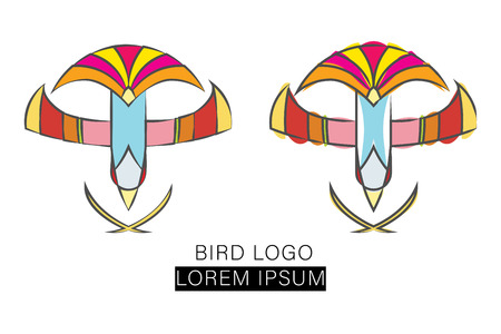 flying bird design logo vector template Illustration