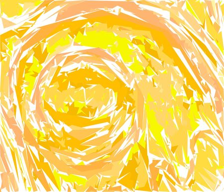Abstract bright orange background. Geometric tornado. Illustration