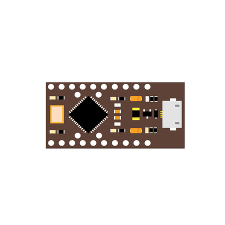 microcontroller: DIY electronic brown board with a microcontroller