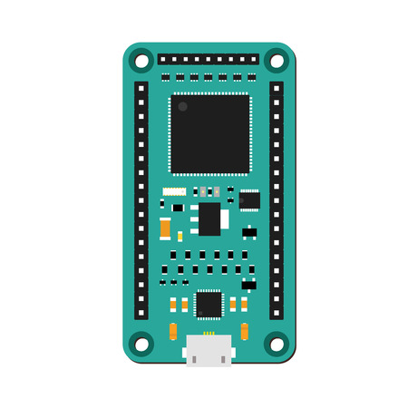 microcontroller: DIY electronic green high end board with a microcontroller