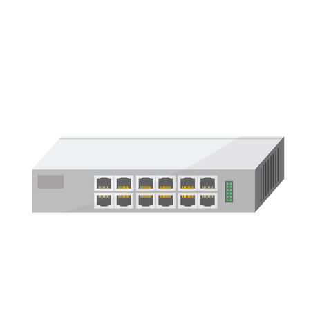 network switch 12 port 矢量图像