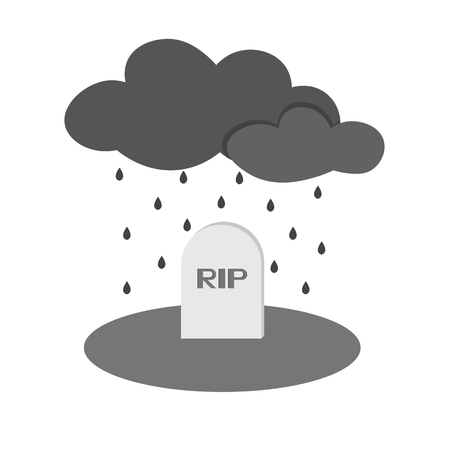 grave rip rain icon of vector ESP 10