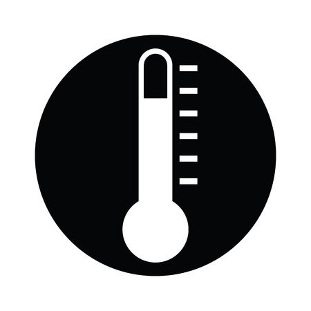 growth hot: icon thermometers have levels and have black BG by illustration 06