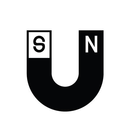 magnets: icon U-shaped magnets Illustration