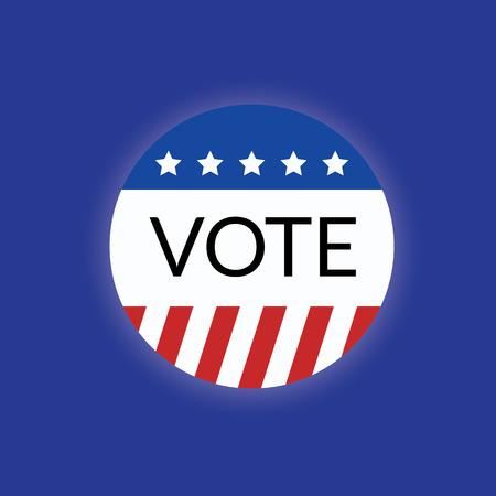 delegation: Voting concept by USA vote logo 2016 Illustration