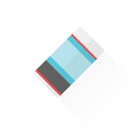 eraser mark: Stationery concept by eraser with colorful body. Illustration