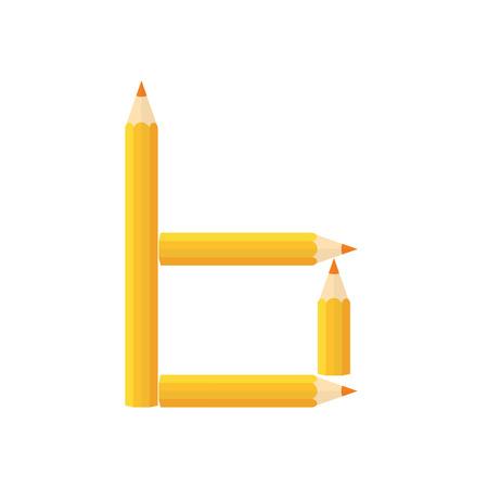 rearrange: Color wooden pencils concept by Rearrange the letters b.