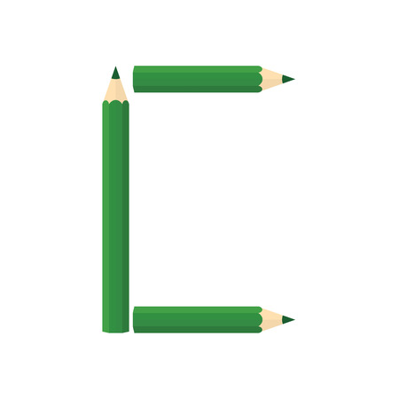 rearrange: Color wooden pencils concept by Rearrange the letters C. Illustration