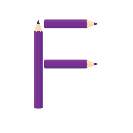 rearrange: Color wooden pencils concept by Rearrange the letters F.