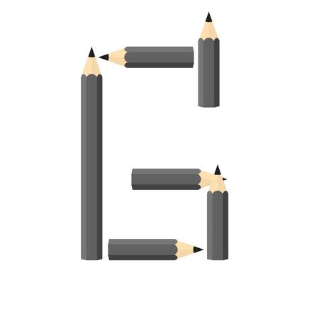 rearrange: Color wooden pencils concept by Rearrange the letters G. Illustration
