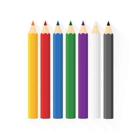 sorted: Color wooden pencils concept by Sorted into rows straight