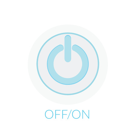 on off button: Button power concept by on off button with blue tones. Illustration