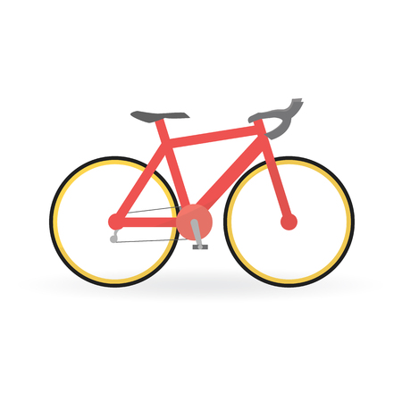 spoke: Bicycle concept by Mountain bike is red color. Illustration