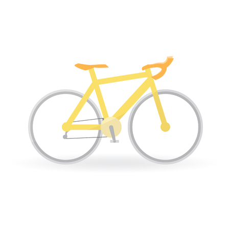 spoke: Bicycle concept by Mountain bike is yellow color.