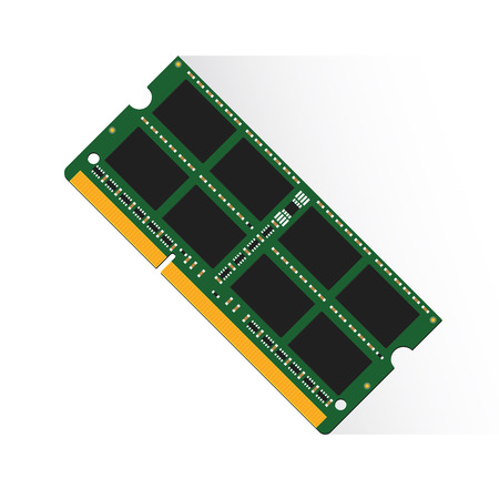 memory card: Random Access Memory concept by RAM labtop 4GB or 8GB or 16GB. Illustration
