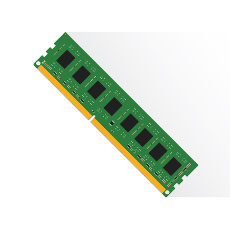 Random Access Memory concept by RAM labtop 4GB or 8GB or 16GB. Illustration