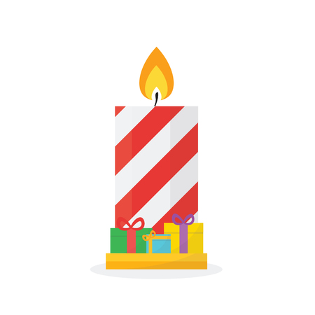 glimmered: Christmas concept by Candle have Gift Box.