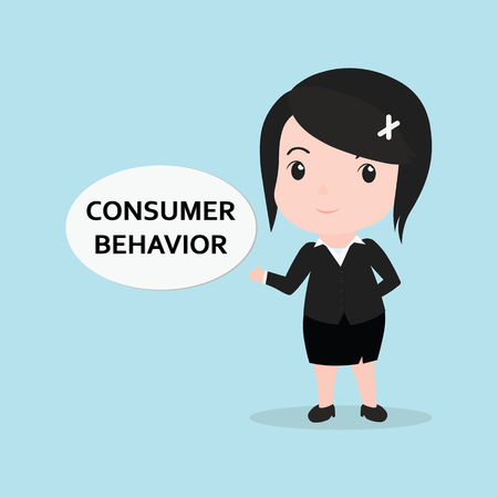 behavior: Business Woman concept by message is consumer behavior.