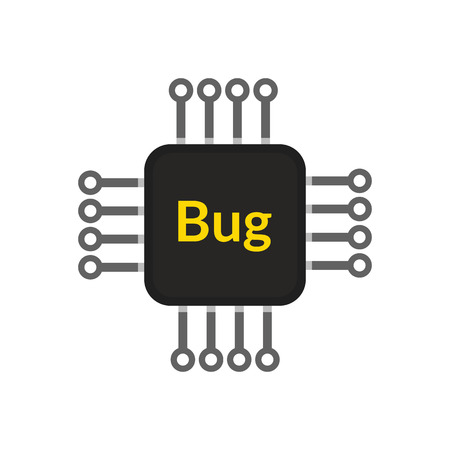 Electronic chip bug, abstract vector design