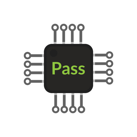 ic: Electronic chip pass, abstract vector design Illustration