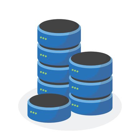 storage: Data storage icon with multi base storage, ESP10.