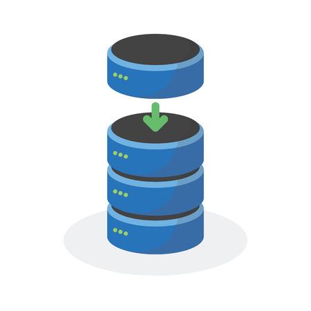 storage: Data storage icon with add base storage, ESP10.