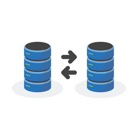 storage: Data storage icon with connect multi base storage. Illustration