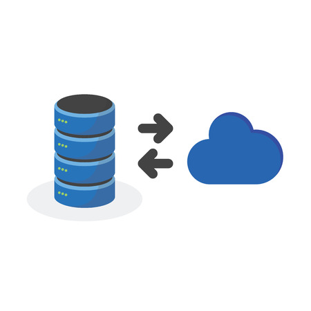 storage: Data storage icon with connect cloud base storage.