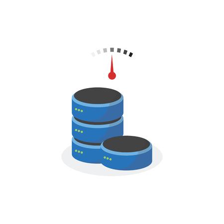 storage: Data storage icon with medium speed base storage.