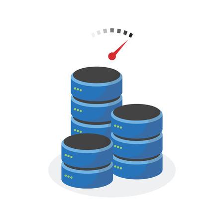 storage: Data storage icon with faster speed base storage.