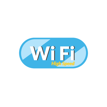 high speed: High speed WiFi icon Illustration