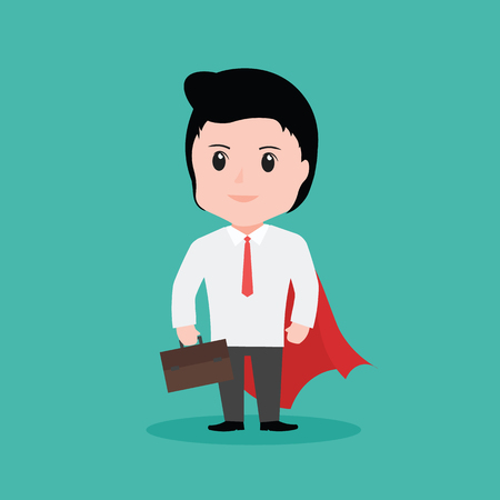 Businessman superhero concept, cartoon vector by EPS10. Illustration