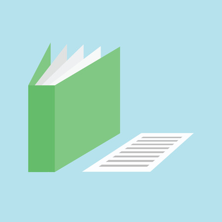 directory: Folder document paper icon, vector by illustration.