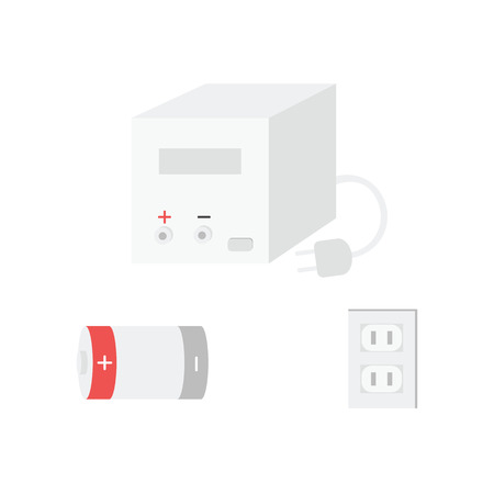 thermistor: Electronic components, Vector of icons by EPS10. Illustration