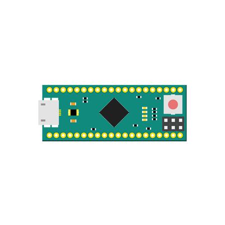 microcontroller: DIY electronic micro board with a microcontroller.