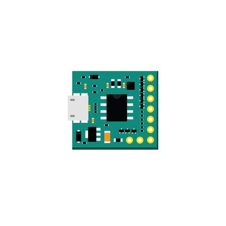 microcontroller: DIY electronic mini board with a microcontroller.