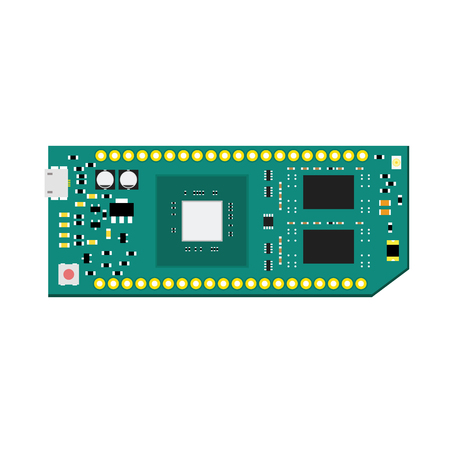 microcontroller: DIY electronic high end board with microcontroller.