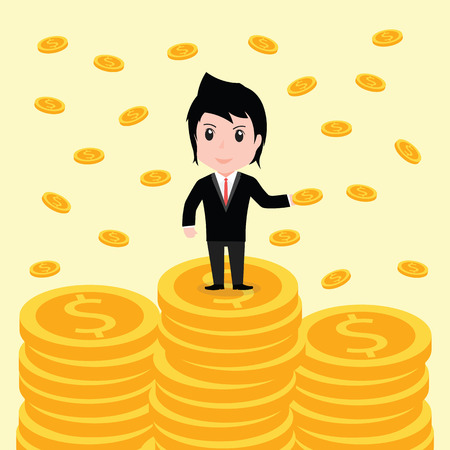 unequal: Many coins, Business man have many coins.
