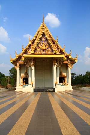 Wat Sra Pra San Suk Buddhist temple in Ubon Ratchatani northern of Thailand photo