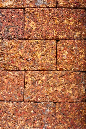 Laterite block in the garden, texture of Laterite use as background and backdrop photo