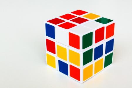 3D rubik cubes Cubes. Abstract background. 3d photo