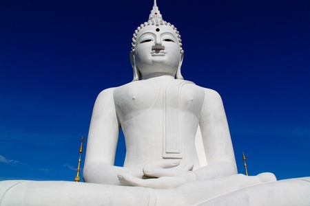 The Big White Buddha in Ubon RatchathaniNortheast of Thailand photo