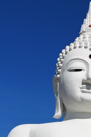 The Big White Buddha in Ubon RatchathaniNortheast of Thailand Stock Photo - 9553723