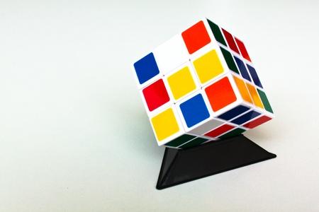 rubik: 3D rubik cubes Cubes. Abstract background. 3d Stock Photo