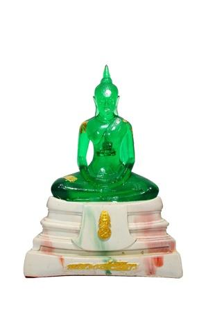 Emerald Buddha isolated on white background