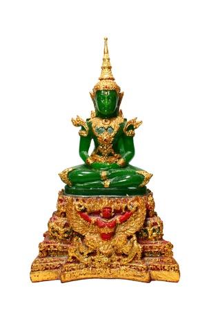 Emerald Buddha isolated on white background photo