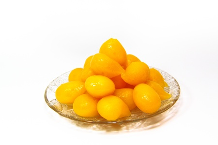 Thai dessert ,Thong Yhod or Gold Egg Yolks Drops photo