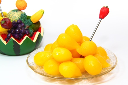 Thai dessert ,Thong Yhod or Gold Egg Yolks Drops